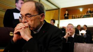 Le cardinal Philippe Barbarin au premier jour de son procès à Lyon, le 7 janvier 2019.