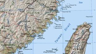 Bản đồ eo biển Đài Loan.