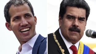 ប្រមុខបក្សប្រឆាំងលោក Juan Guaidó និង លោកប្រធានាធិបតី Nicolás Maduro.