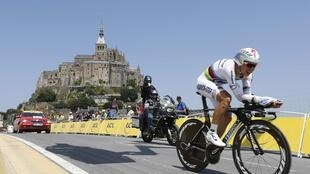 Tony Martin at the Mont Saint Michel on Wednesday