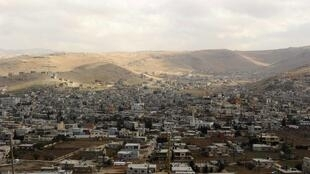 The town of Arsal, in eastern Bekaa Valley, Lebanon