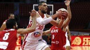 Salah Mejri a été l'un des grands artisans de la vicroire de la Tunisie face à l'Iran à Guangzhou le 2 septembre 2019.