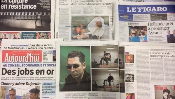 Primeiras páginas dos diários franceses de 12/03/2014