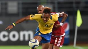 Le Gabonais Pierre-Emerick Aubameyang lors de la CAN 2015.