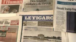 Primeiras páginas dos diários franceses de 26 de Setembro de 2019.