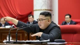 朝鲜最高领导人金正恩资料图片