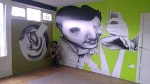 """O artista brasileiro Ethos, um dos participantes do projeto """"La Tour 13"""""""