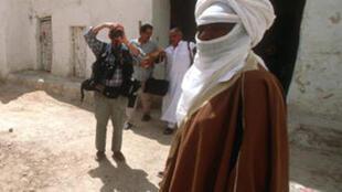 Un touareg  photographié à Ghadames en Libye, le 1er avril 2000.