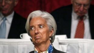 IMF boss Christine Lagarde in New York last monthl
