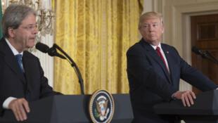 Le président américain Donald Trump et le Premier ministre italien Paolo Gentiloni le 20 avril 2017 à la Maison-Blanche.
