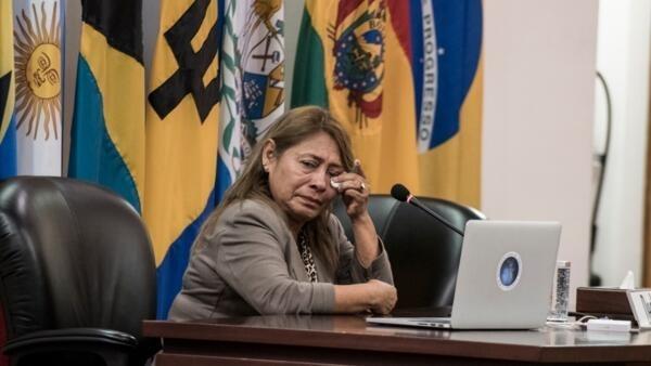 Petita Albarracín, madre de Paola Guzmán.