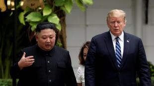 Kim Jong Un na Koriya ta Arewa da Shugaba Donald Trump a Vietnam