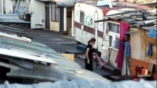 Лагерь цыган в Сен-Дени под Парижем
