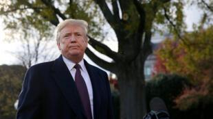 Le président américain Donald Trump à la Maison Blanche le 20 novembre 2018.