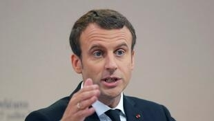 French President Emmanuel Macron voiced his concern at the ballistic and nuclear threat coming from North Korea.