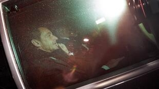 Nicolas Sarkozy after being questioned over the accusations last year