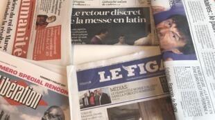 Primeiras páginas dos diários franceses 7/7/2017