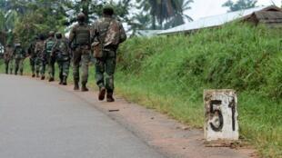 Des FARDC en patrouille dans la région d'Eringeti (archives).