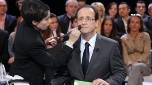 François Hollande on TV Thursday evening