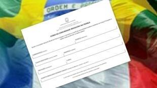 O questionário do censo da comunidade brasileira na França pede informações básicas sobre os cidadãos.