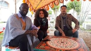Babacar Oualy, Nelly Cazal, Mathieu d'Angelo (dit Maky).