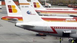 Aviones de la aerolínea española Iberia.