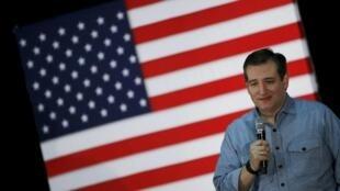 O pré-candidato republicano Ted Cruz em comício no Iowa, em 31 de janeiro de 2016.