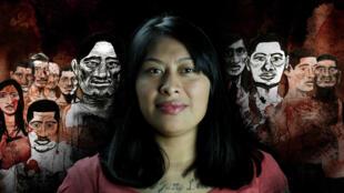 Alma, ex-membre d'un gang ultraviolent au Guatemala, est le personnage central de ce webdocumentaire.