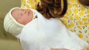 La nueva princesa fue presentada al público a las pocas horas de nacer