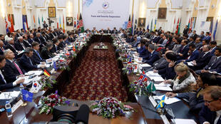 圖為阿富汗安全峰會會場