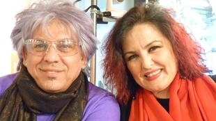 El cantaor Antonio Malena y la bailaora Maria del Mar Moreno en los estudios de RFI en París.