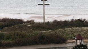 The 18 metres high Croix de Lorraine on Juno beach outside Courseulles-sur-Mer in the Normandy region