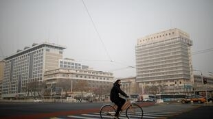 Một khu phố ở Bắc Kinh, Trung Quốc vắng lặng. Ảnh chụp ngày 28/01/2020