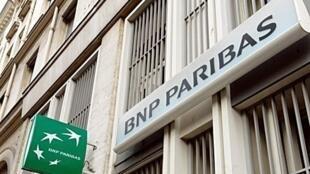 A BNP Paribas sign.