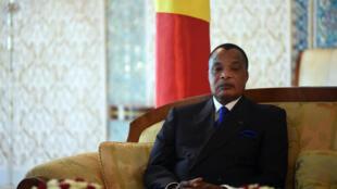 Le président congolais Denis Sassou-Nguesso le 27 mars 2017.