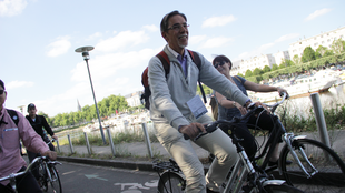 Bike parade in Nantes, France on 3 June 2015 during the Velocity Convention.