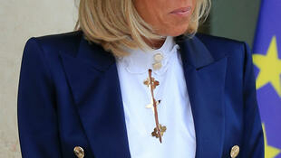 Back to school: French First Lady, Brigitte Macron.