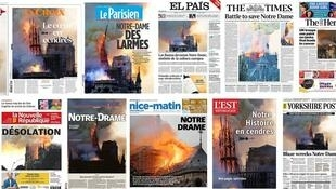 Les Echoes montage of this morning's French front pages.