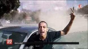 Frame de vídeo que traz suposta imagem de Mohammed Merah, o assassino de Toulouse.