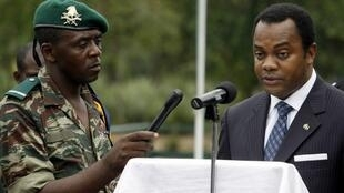 Donald Duke, right, in 2006 when he was governor of Cross River (archive image).