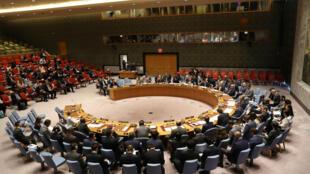 Reunião do Conselho de Segurança da ONU em Nova York, nesta segunda-feira, 4 de setembro de 2017, após testes nucleares da Coreia do Norte.