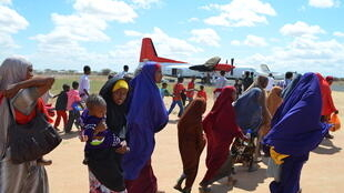 Refugees gather in Dadaab, near the Kenya-Somalia border, in Garissa County, Kenya (File photo)