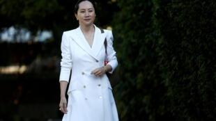 華為集團前金融首腦孟晚舟,加拿大溫哥華9月30日。