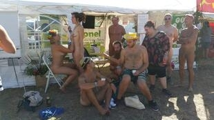 Apnel (Association for the promotion of naturism in liberty) at Fete de l'Huma 2016