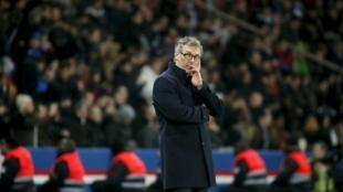 L'entraîneur du PSG Laurent Blanc.