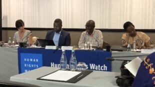 Diretores da Human Rights Watch concederam um entrevista coletiva à imprensa nesta quarta-feira, 15 de janeiro de 2020, em Joanesburgo, para falar da situação dos direitos humanos na África.