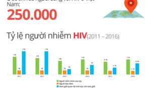 Biểu đồ thống kê người nhiễm HIV tại Việt Nam. Ảnh chụp màn hình Unaids.org.vn.