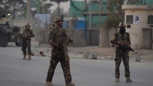 阿富汗政府軍在喀布爾巡邏(資料照)
