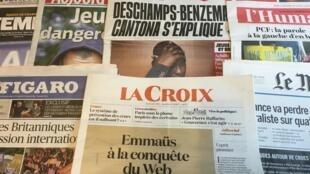 Primeiras páginas dos jornais franceses de 02 de junho de 2016