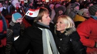 Новый 2011 год на улицах Таллинна.